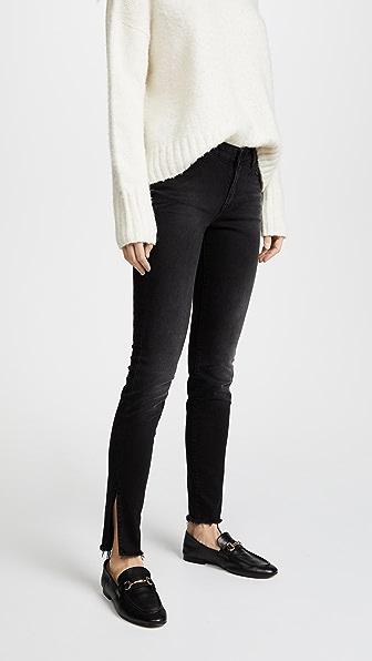 PRPS Camaro Mid Rise Skinny Jeans In Black