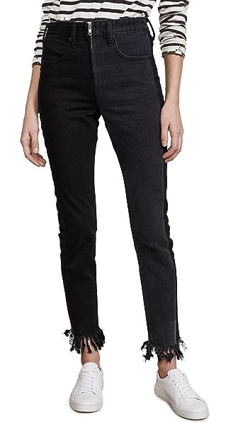 PRPS Amx Zip Front Jeans In Black