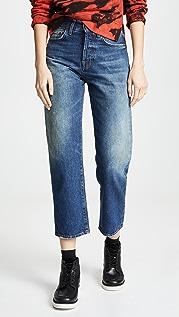 PRPS Прямые укороченные джинсы C10 с высокой посадкой