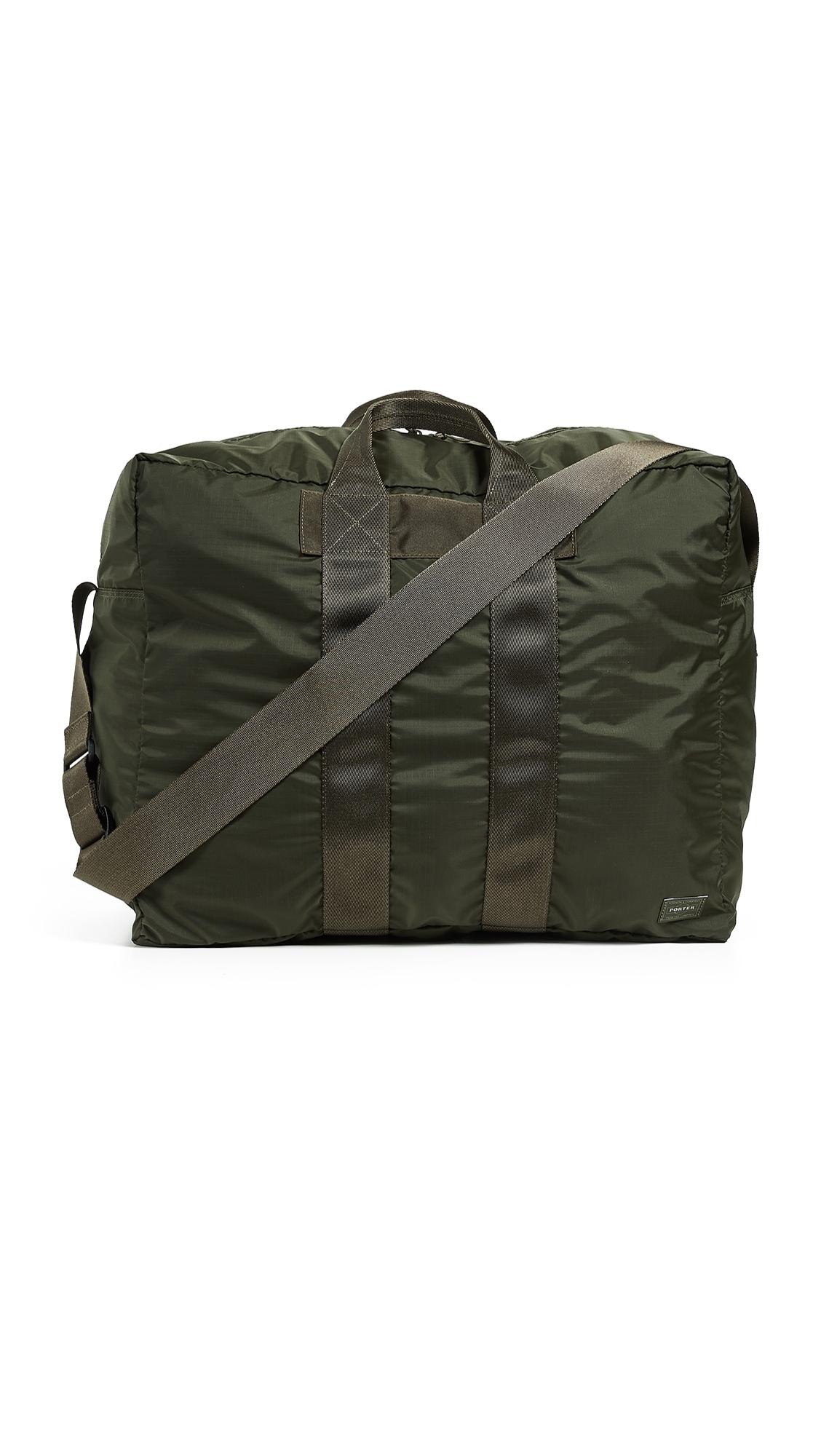 PORTER Flex 2 Way Duffel Bag in Olive