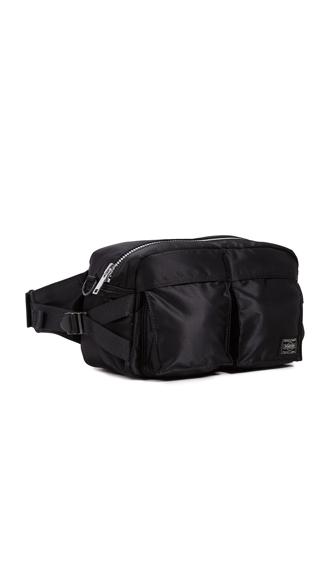 PORTER Tanker Waist Bag L in Black
