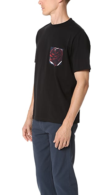 PS by Paul Smith Rose Print Pocket Tee