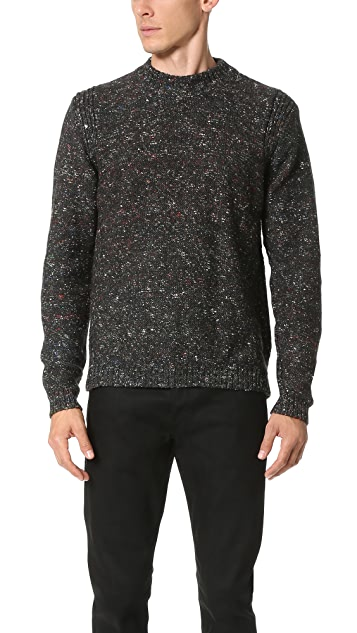PS by Paul Smith Crew Neck Nep Knit Sweater