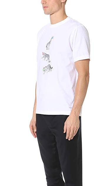 PS by Paul Smith Animal Print Regular Fit Tee