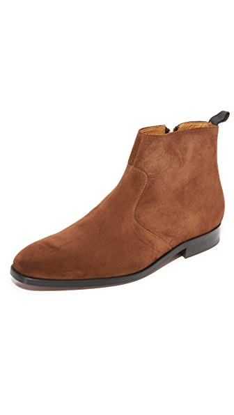 PS by Paul Smith Mulder Snuff Suede Side Zip Boots