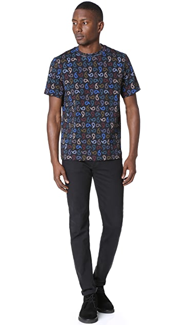 PS by Paul Smith Regular Fit Tee with Multi Dot Print