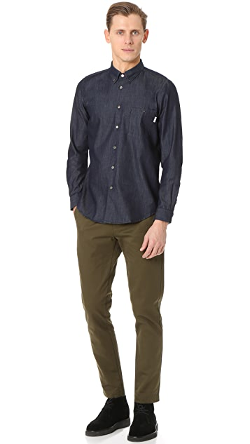 PS by Paul Smith Long Sleeve Tailored Fit Denim Shirt