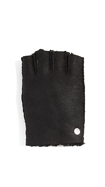 PS by Paul Smith Sheepskin Fingerless Gloves