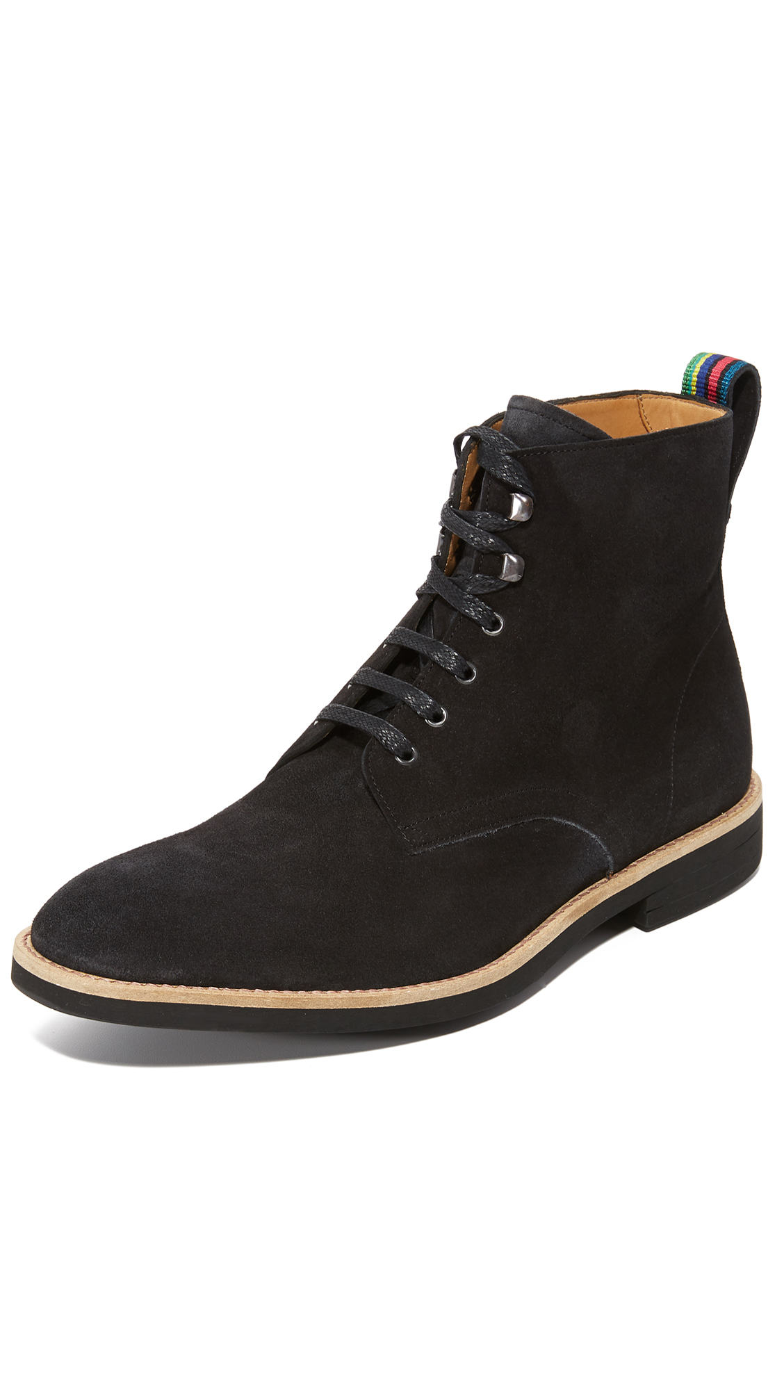 PS BY PAUL SMITH Hamilton Leather Boots in Anthracite