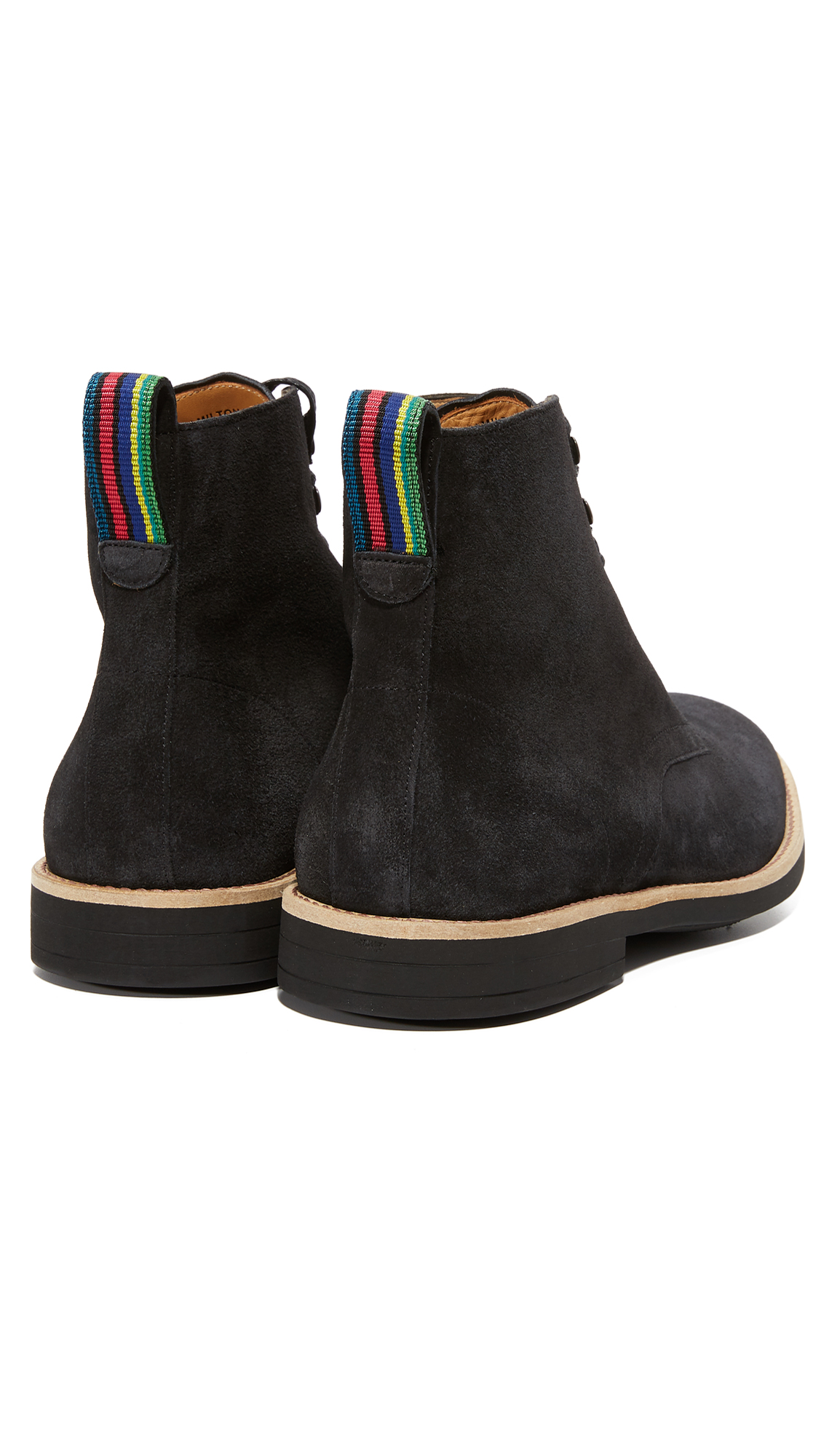 PS BY PAUL SMITH Hamilton Leather Boots in Black
