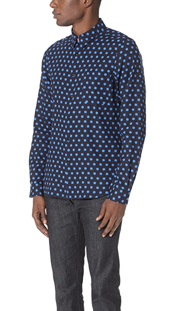 PS by Paul Smith Tailored Fit Shirt with Blue Stars