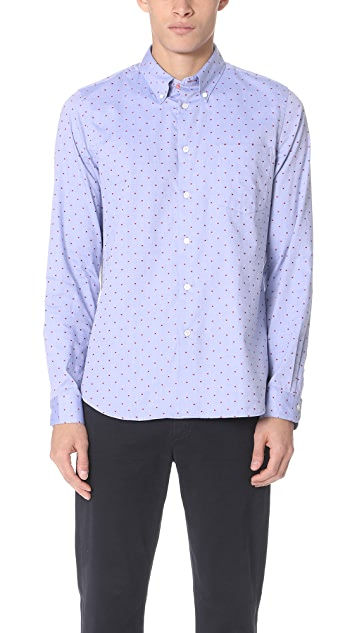 PS by Paul Smith Tailored Fit Shirt with Red Squares