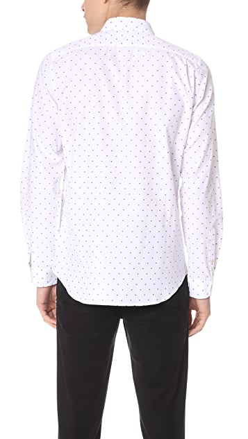 PS by Paul Smith Tailored Fit Shirt with Blue Squares