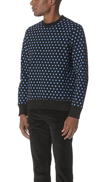 PS by Paul Smith Polka Dot Crew Sweatshirt