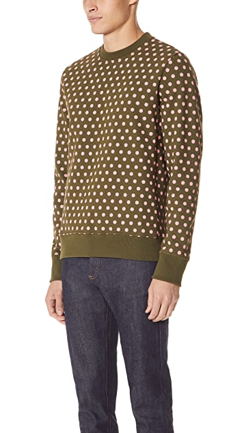 PS by Paul Smith Crew Sweatshirt with Polka Dots