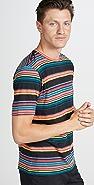 PS Paul Smith Short Sleeve Bold Multi Stripe Tee Shirt
