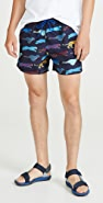 PS Paul Smith Large Cheetah Swim Trunks