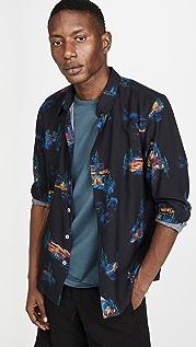 PS Paul Smith Long Sleeve Printed Camp Shirt