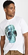 PS Paul Smith White Skull Print T-Shirt