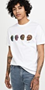 PS Paul Smith Men's Reg Fit T-Shirt Skulls