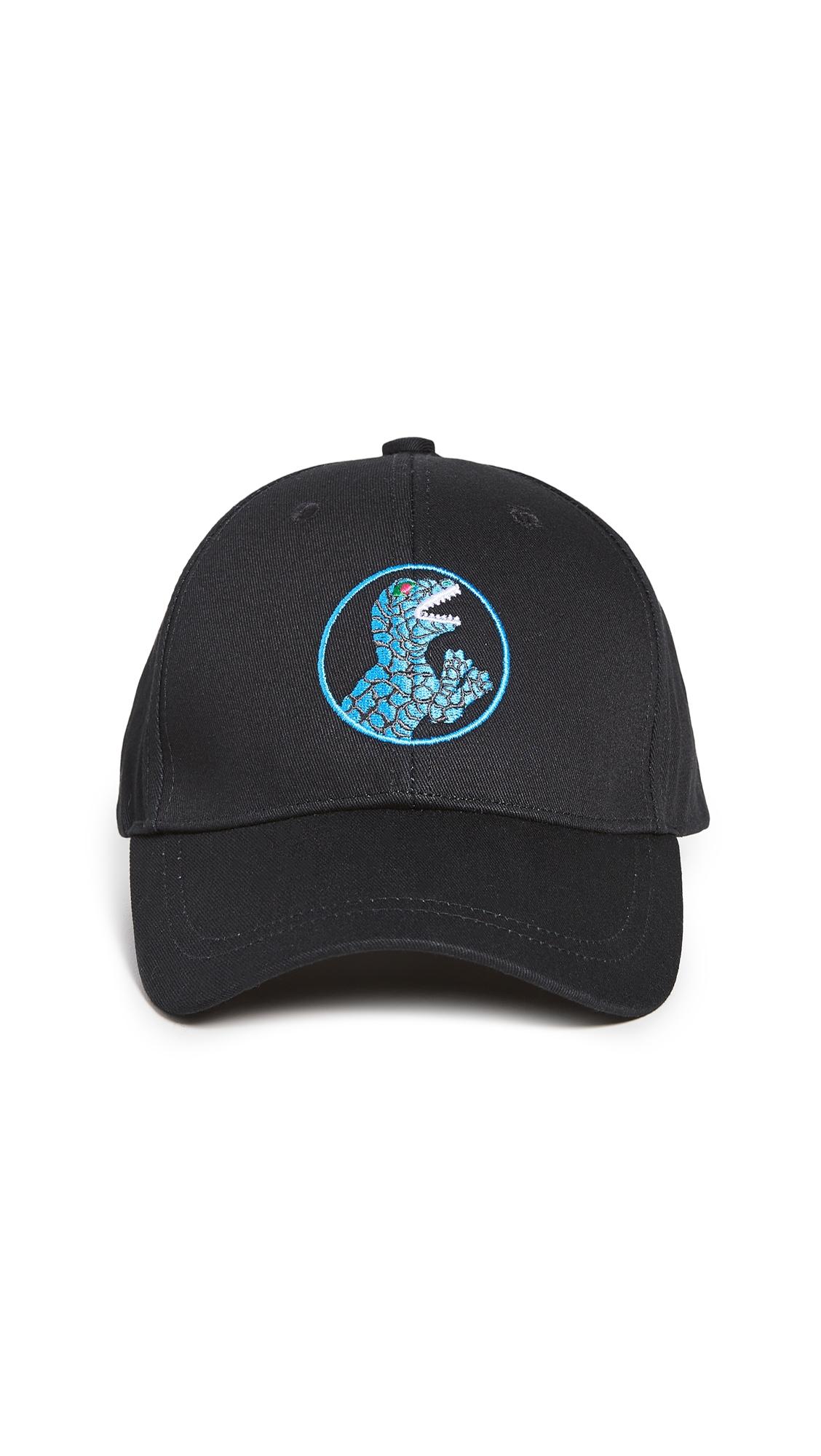 Ps By Paul Smith Dino Baseball Cap In Black