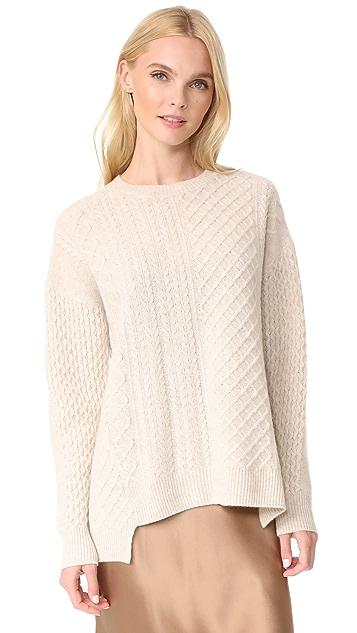 Pringle of Scotland Long Sleeve Asymmetrical Sweater