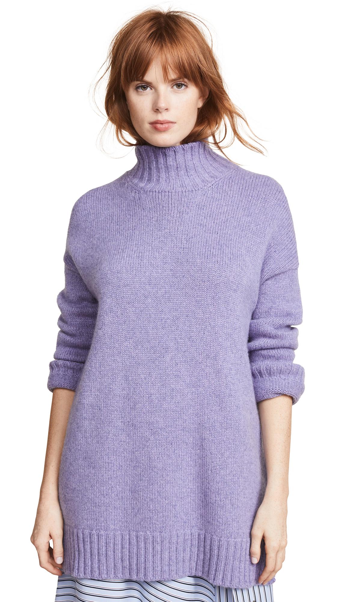 Pringle of Scotland Roll Neck Sweater In Lavender