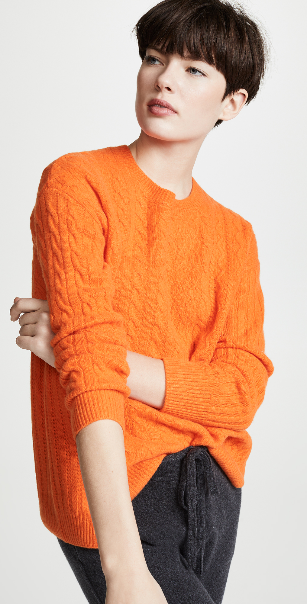 Pringle of Scotland Overwash Cable Knit Sweater | SHOPBOP