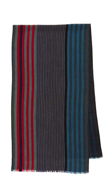 Paul Smith New Woven Stripe Scarf