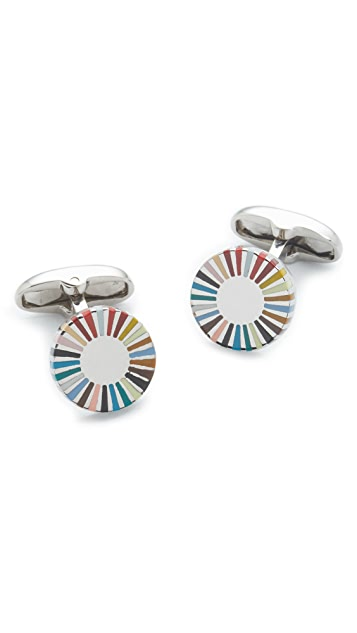 Paul Smith Multistripe Ray Edge Cufflinks