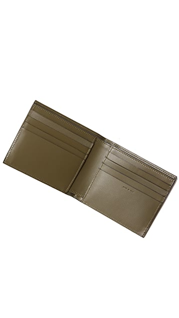 Paul Smith Stripe Embossed Billfold Wallet