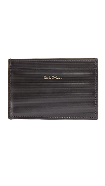 Paul Smith Stripe Embossed Card Case