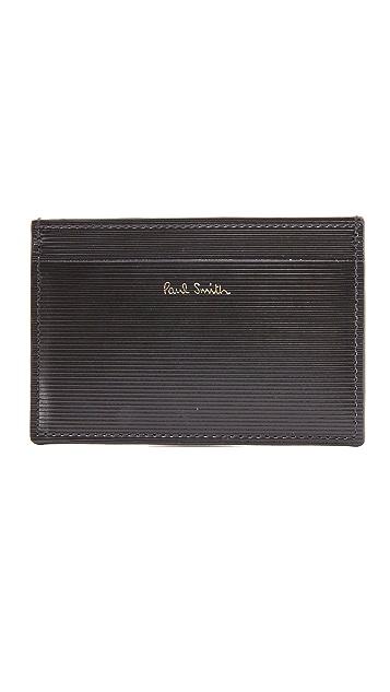 Paul Smith Stripe Embossed Card Case