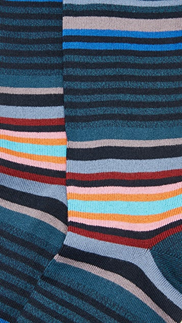 Paul Smith Twisted Bright Stripe Socks