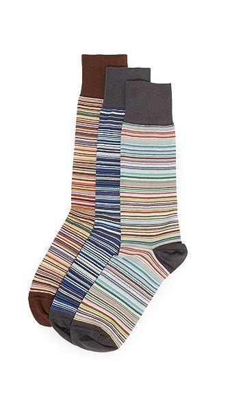 Paul Smith 3 Pack Multistripe Socks