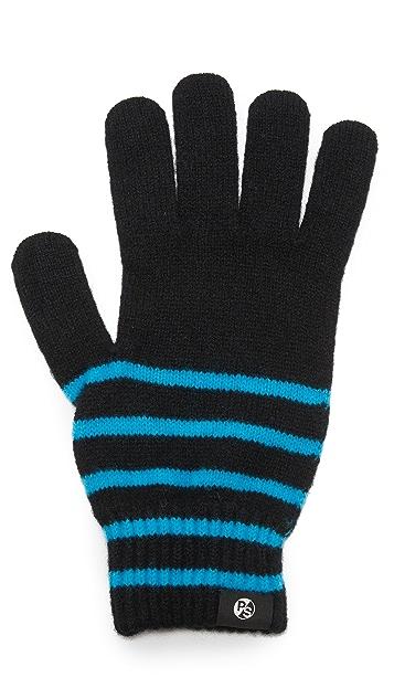 Paul Smith Neon Stripe Gloves