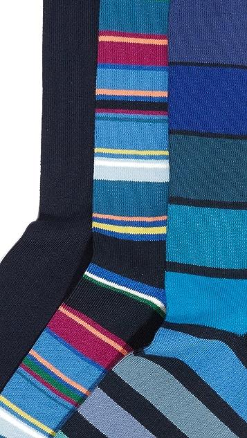Paul Smith 3 Pack Multi Stripe Socks