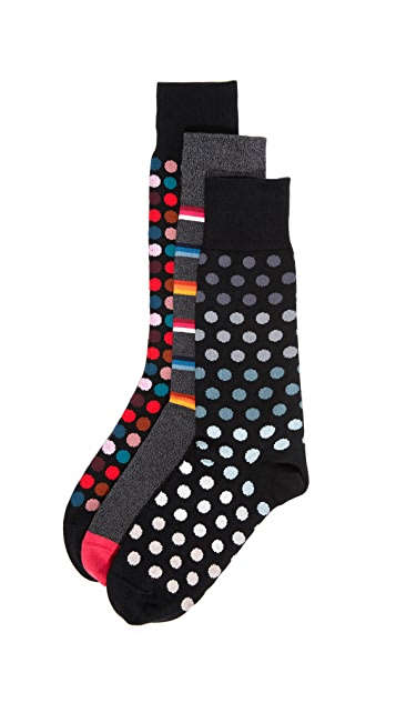 Paul Smith 3 Pack Multi Print Socks