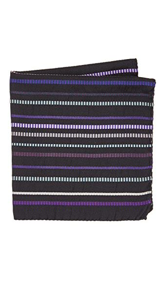 Paul Smith Textured Multistripe Pocket Square