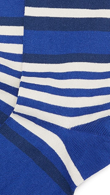 Paul Smith Ecru Stripe Socks