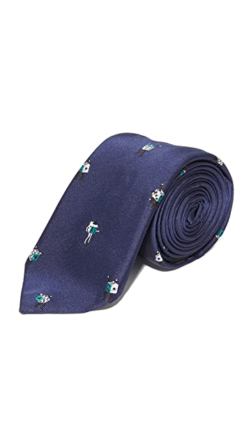 Paul Smith Lady Dice Skinny Tie