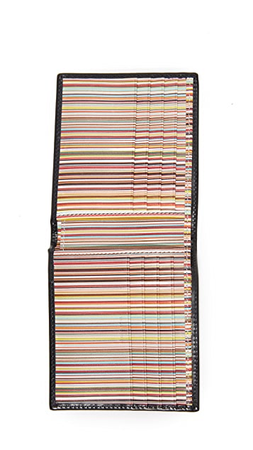 Paul Smith Interior Multi Stripe Billfold Wallet