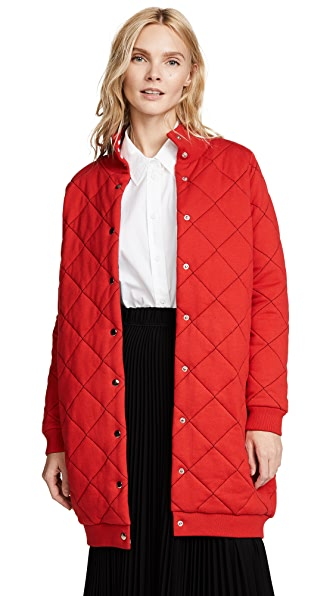 Paul Smith Quilted Long Bomber Jacket