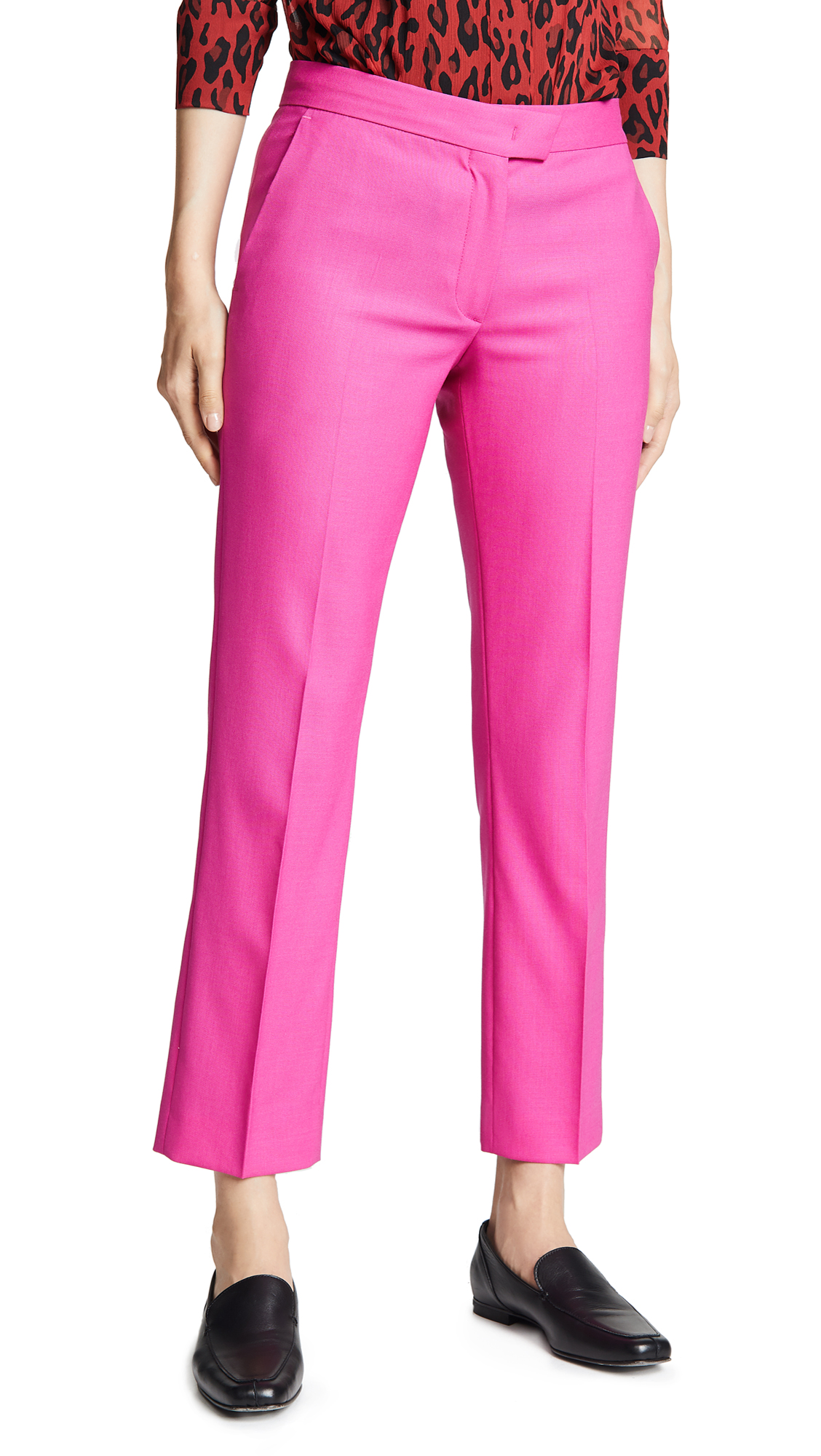 Paul Smith Fitted Trousers In Fuchsia