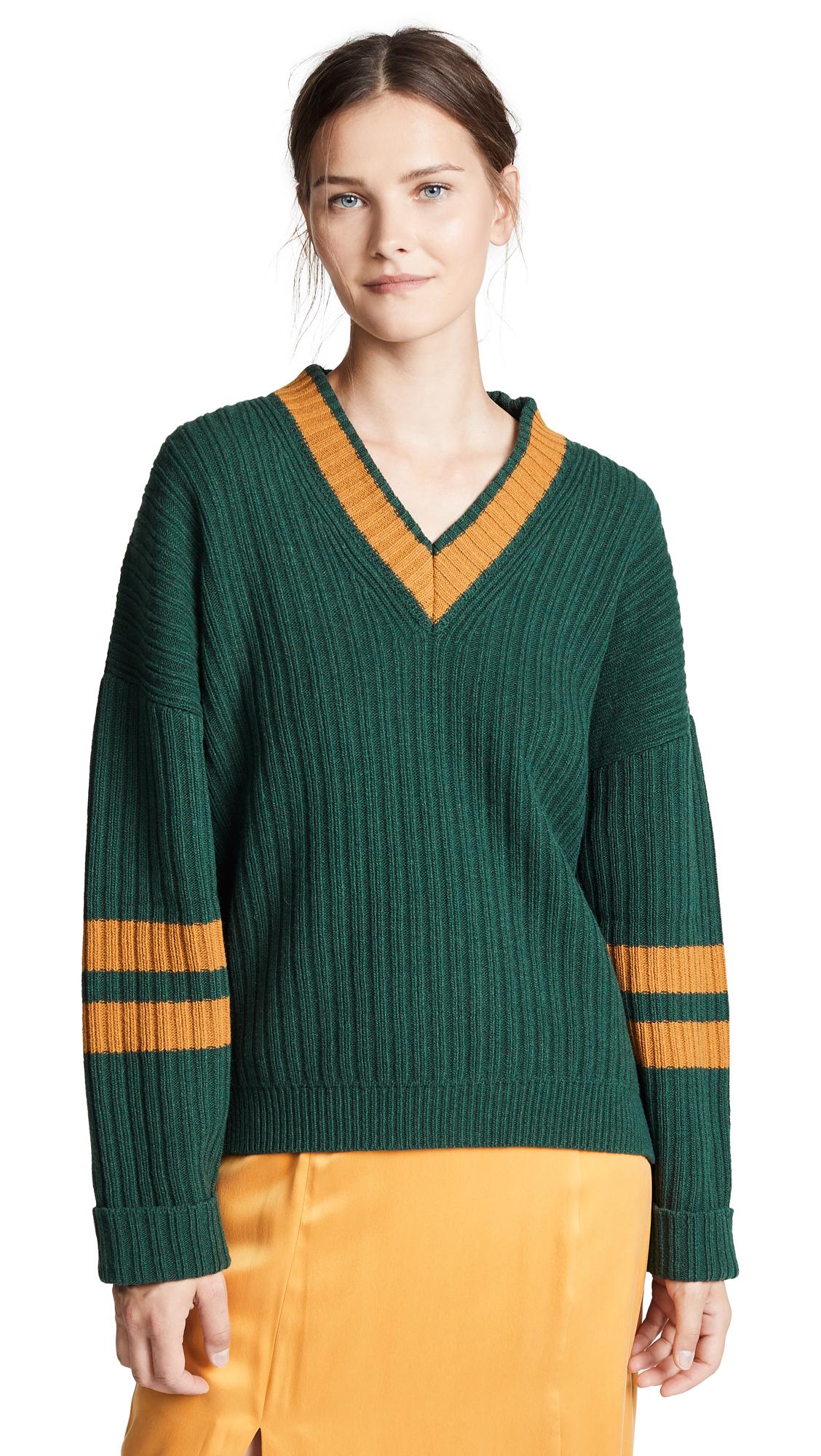 Paul Smith Varsity Sweater In Green