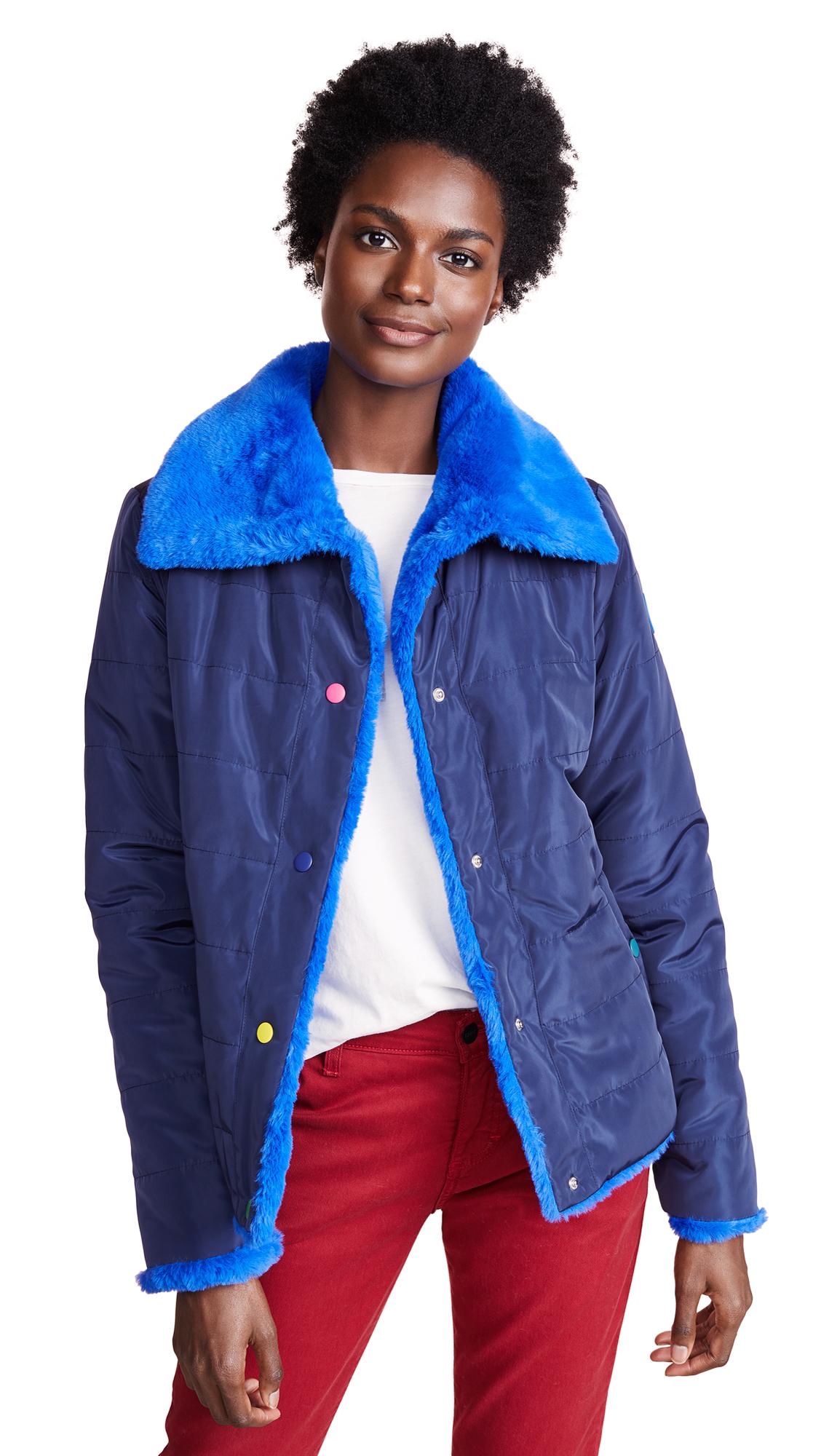 Paul Smith Reversible Coat In Blue