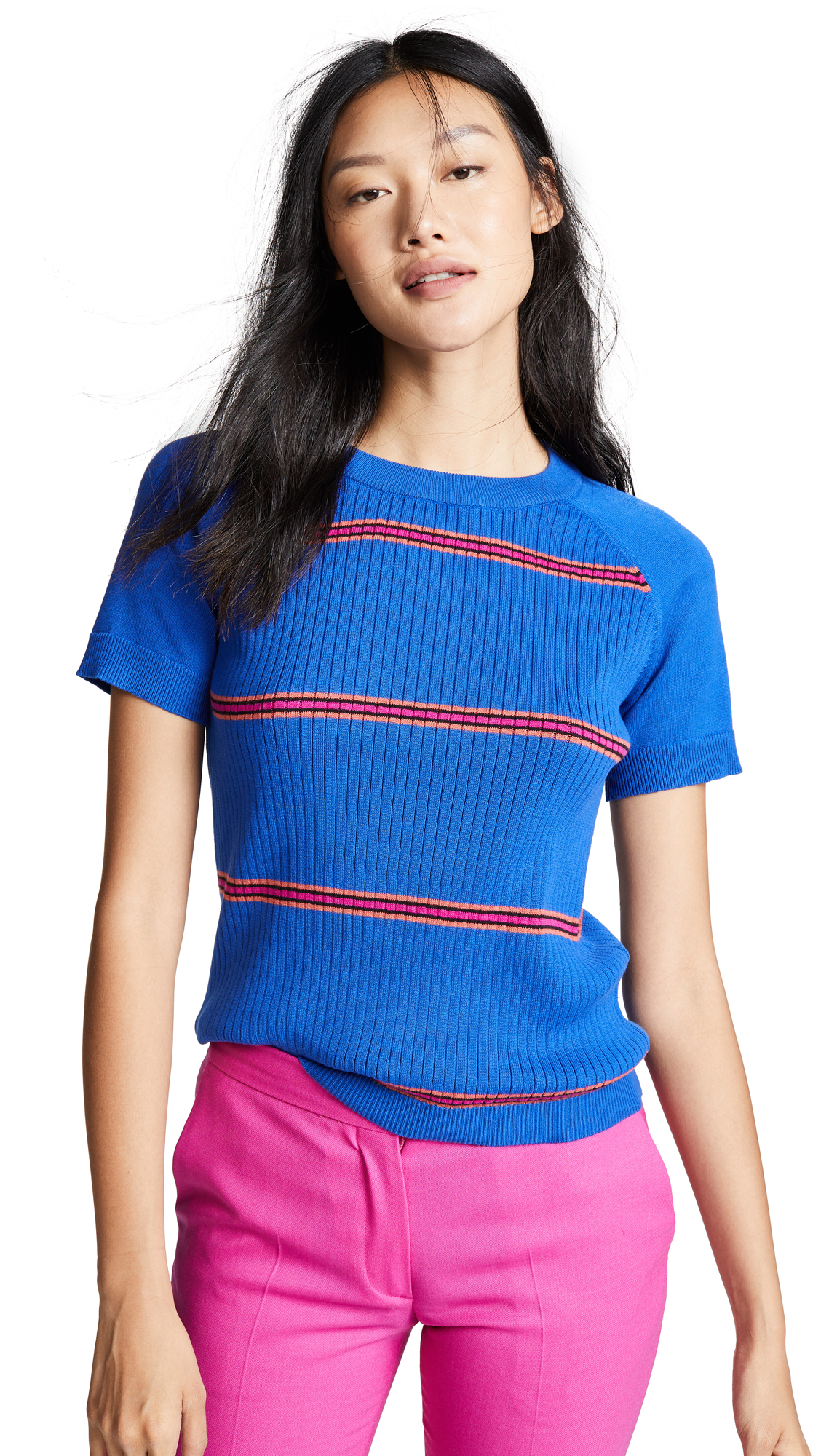Paul Smith Knit Short Sleeve Shirt In Blue