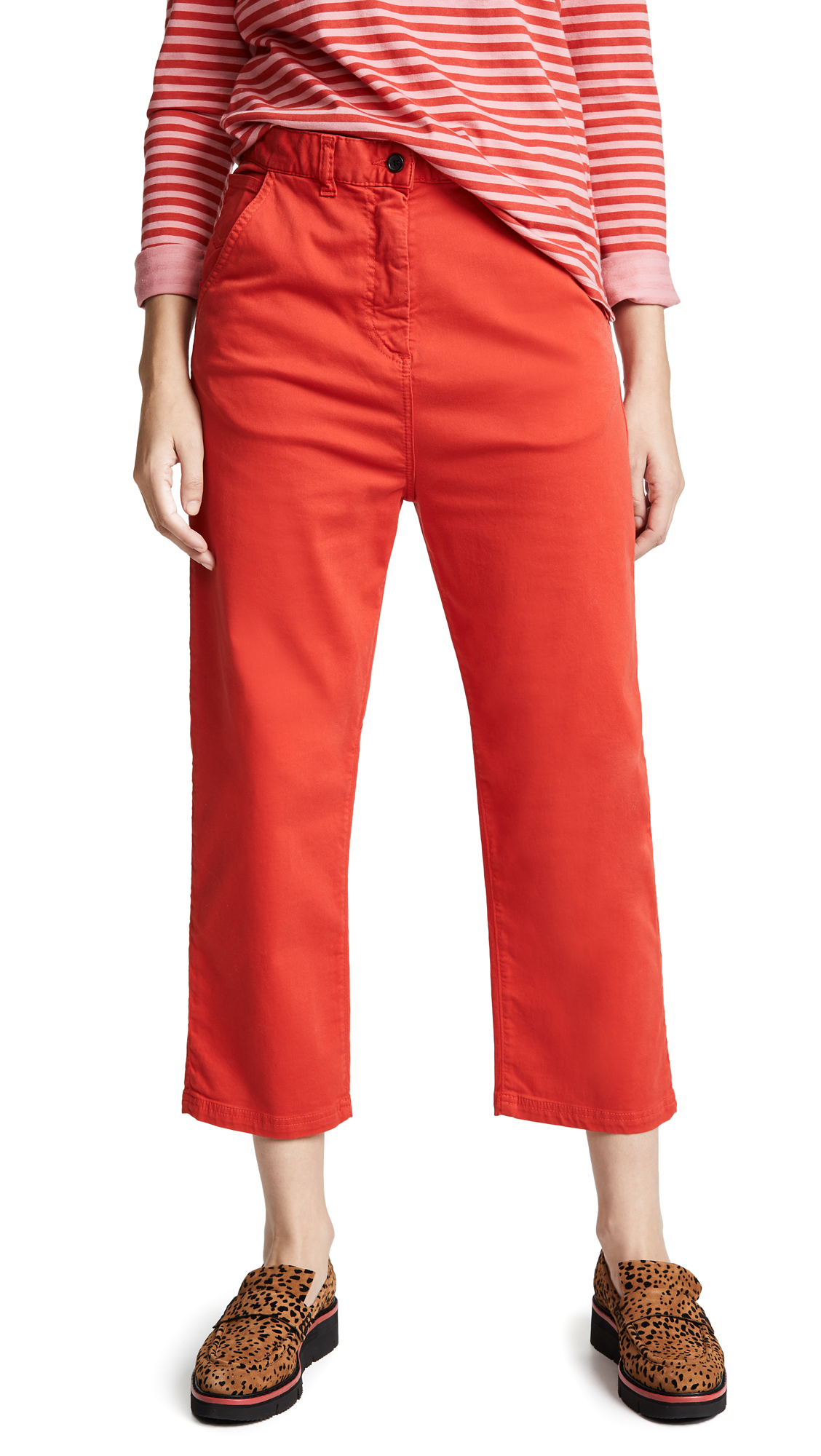 Paul Smith Cropped Trousers In Red Orange