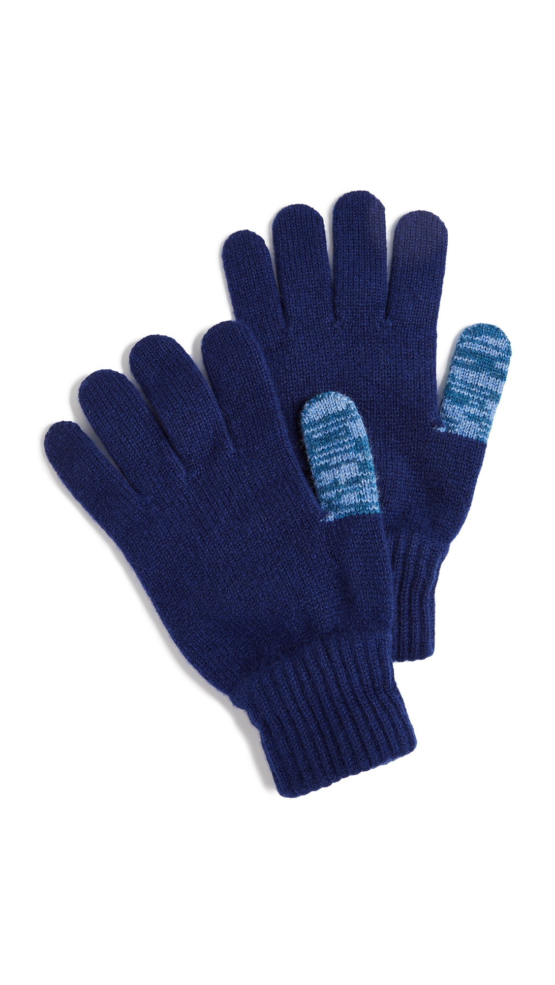 PAUL SMITH Twisted Thumb Gloves in Blue