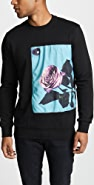 Paul Smith Sweatshirt With Rose Applique